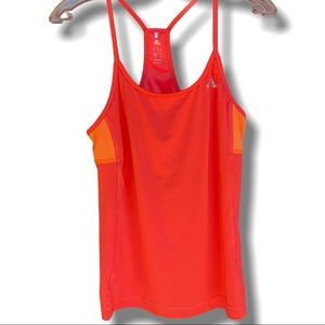ADIDAS RACERBACK CLIMALITE TOP IN CORAL SZ M